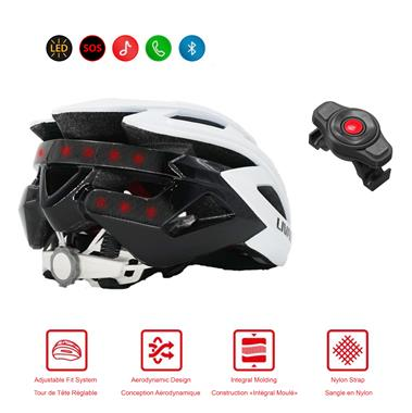 BH60SE Smart and Safe Cycling Helmet Bluetooth Connection White