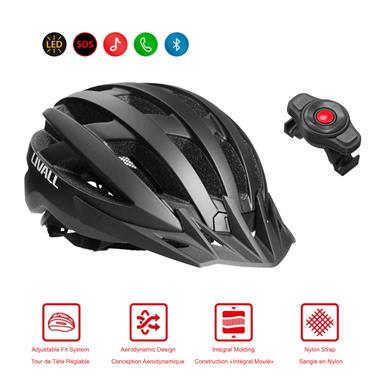MT1M Smart and Safe Cycling Helmet Bluetooth Connection Matte Black